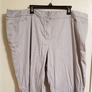 Lane Bryant light gray capris